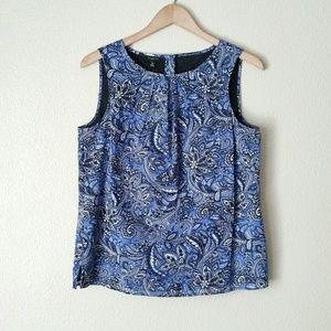 Talbots Blue Paisley Blouse